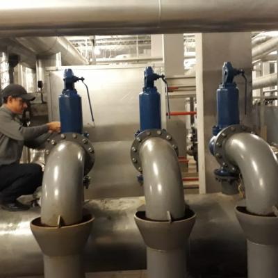 настройка предохранительных клапанов после капитального ремонта на Зенит-Арене.